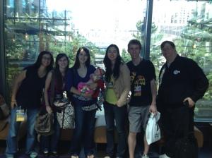 Tina, Marina, me, Roz, Andrea, Austin, and Martin